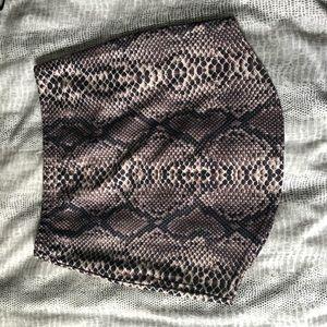 Snakeskin Pencil Skirt